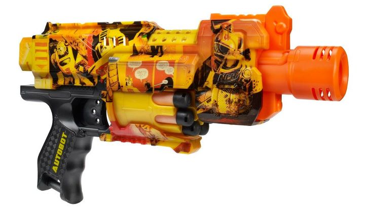 Buy NERF N-Strike Longshot CS-6 Blaster - Take on targets from a distance or in the heart of the action with this 2-in-1 blaster! The Longshot CS-6 blaster is composed of a bolt-action blaster and a slide-action extension blaster. Combine them into one big blaster when it's time for long-distance battling. Use them separately for close quarters.