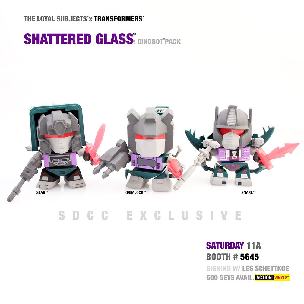 loyal subjects shattered glass dinobots