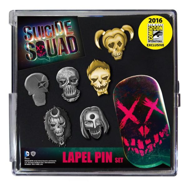monogram cc16 suicide squad pin set